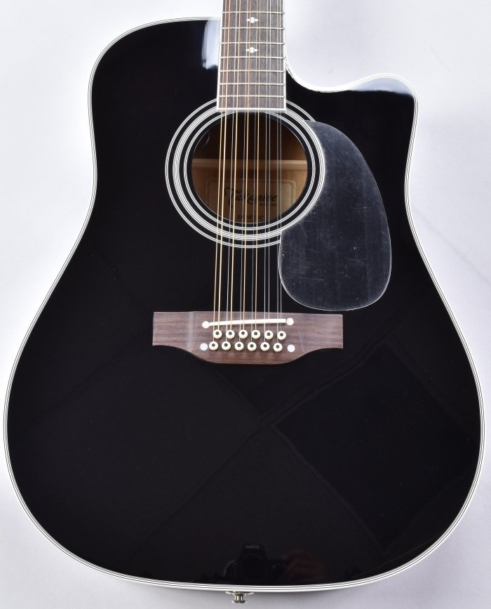 Musical Instruments & Gear Lower Price with Takamine Ef381sc 12 String Acoustic Guitar In Gloss Black B-stock Guitars & Basses