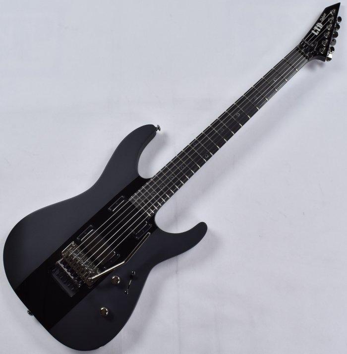 esp ltd deluxe m 1000 electric guitar in satin black with gloss stripe 799493257045 ebay. Black Bedroom Furniture Sets. Home Design Ideas