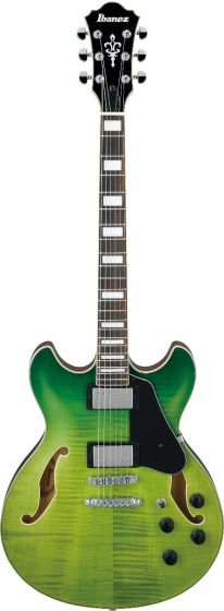 Ibanez AS73FM GVG AS Artcore Green Valley Gradation Semi-Hollow Body Electric Guitar sku number AS73FMGVG