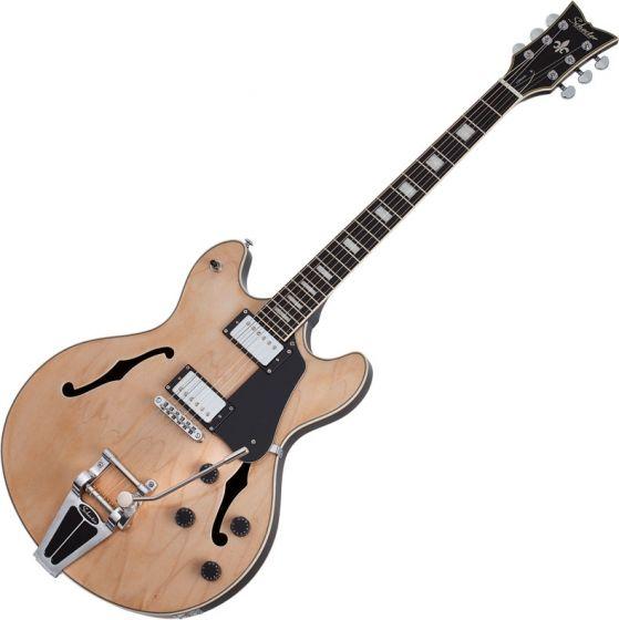 Schecter Corsair Semi-Hollow Electric Guitar Gloss Natural SCHECTER1553