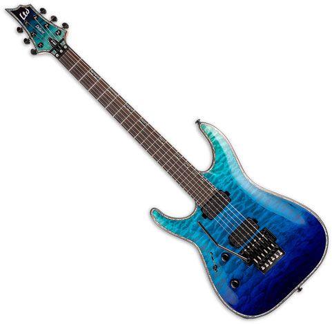 ESP LTD H-10001FR Left Handed Electric Guitar Violet Shadow Fade LH1001FRQMVSHFDLH