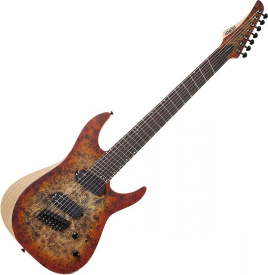 Schecter Reaper-7 Multiscale Electric Guitar in Satin Inferno Burst SCHECTER1511