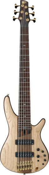 Ibanez SR Premium SR1306 6 String Natural Flat Bass Guitar sku number SR1306NTF