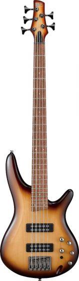 Ibanez SR Standard SR375EF 5 String Natural Browned Burst Bass Guitar SR375ENNB