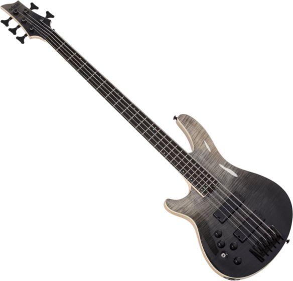 Schecter SLS ELITE-5 Left Hand Electric Bass in Black Fade Burst sku number SCHECTER1399