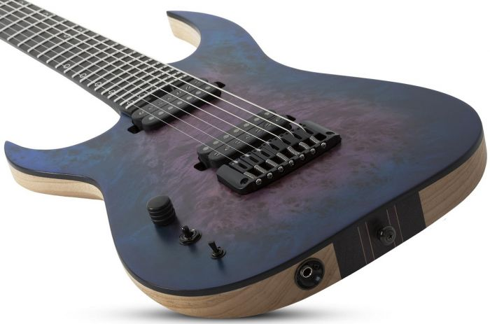 Schecter MK-7 MK-III Left Handed Electric Guitar in Blue Crimson sku number SCHECTER305