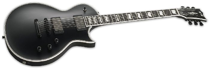ESP E-II Eclipse Electric Guitar in Black Satin EIIECBLKS