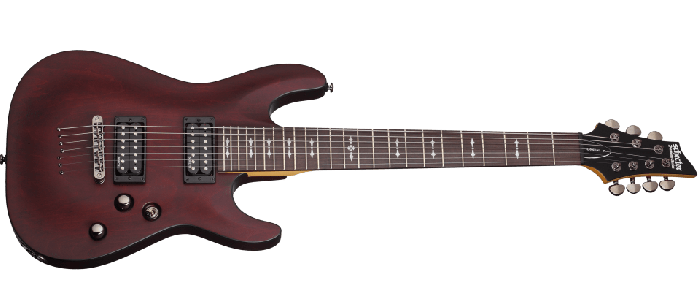 Schecter Omen-7 Electric Guitar in Walnut Satin Finish SCHECTER2068