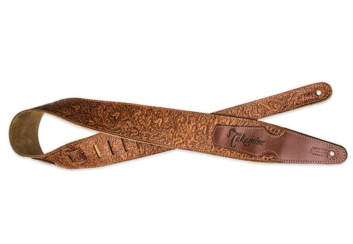 Takamine Tooled Leather Guitar Strap MTAKTKS317F