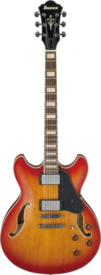 Ibanez ASV73 VAL ASV Artcore Vintage Amber Burst Low Gloss Hollow Semi-Body Electric Guitar sku number ASV73VAL