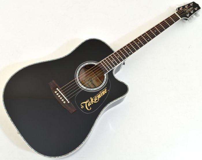 Takamine EF341DX Dreadnought Acoustic Electric Guitar Black TAKEF341DX