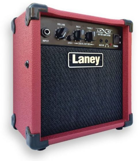 Laney LX 10W Electric Guitar Combo Amp 1x5 with Drive LX10 RD sku number LX10 RD