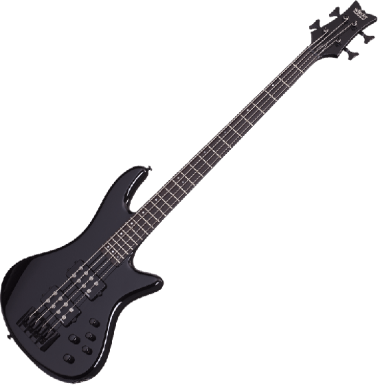 Schecter Stiletto Stage-4 Electric Bass Gloss Black SCHECTER2481