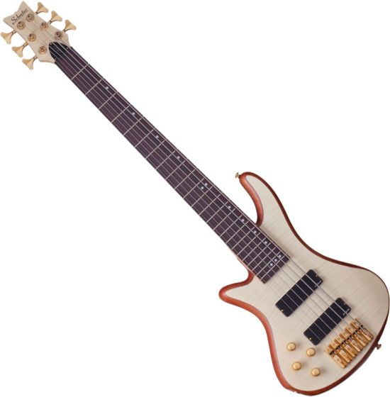 Schecter Stiletto Custom-6 Left-Handed Electric Bass Gloss Natural SCHECTER2544