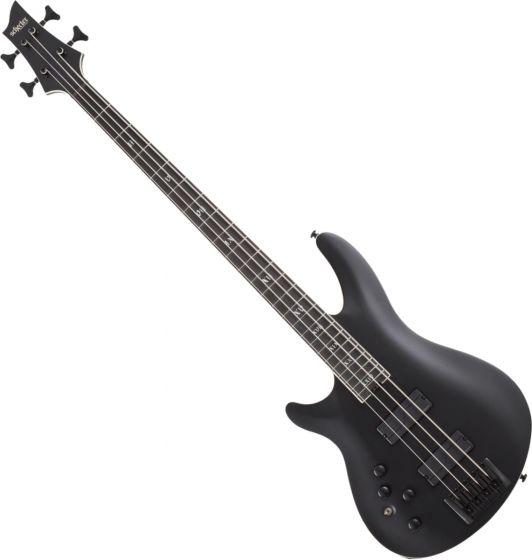 Schecter SLS ELITE-4 Evil Twin Left Hand Electric Bass in Satin Black SCHECTER1396