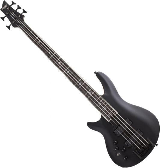 Schecter SLS ELITE-5 Evil Twin Left Hand Electric Bass in Satin Black SCHECTER1397