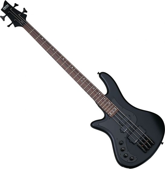 Schecter Stiletto Stealth-4 Left-Handed Electric Bass Satin Black SCHECTER2526
