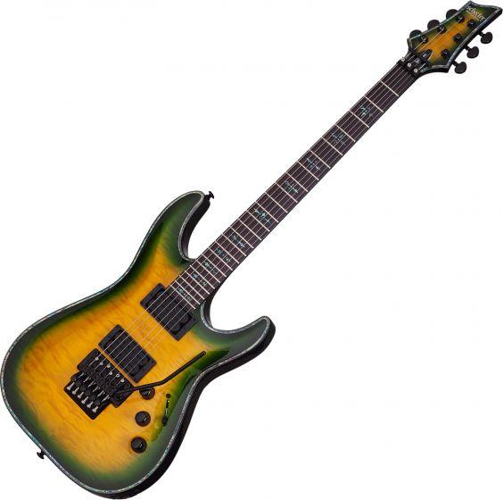 Schecter Hellraiser C-1 FR Passive Electric Guitar in Dragon Burst Finish SCHECTER1952