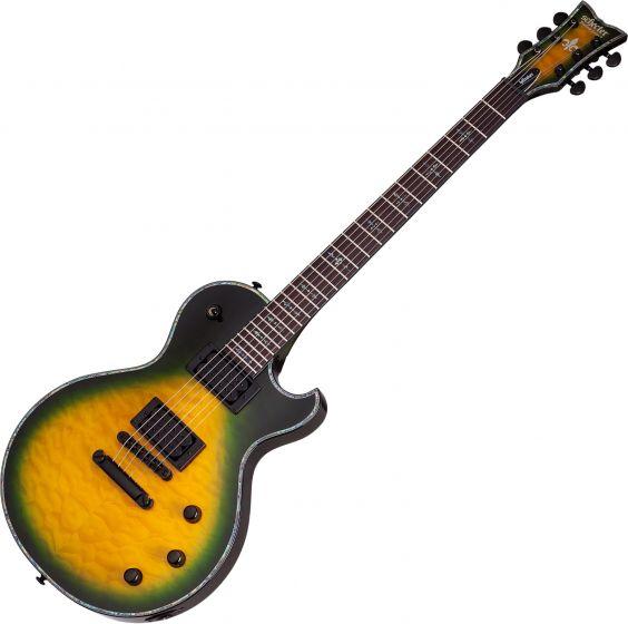 Schecter Hellraiser Solo-II Passive Electric Guitar in Dragon Burst Finish SCHECTER1953