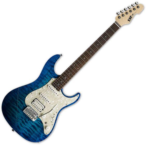 ESP Snapper CTM Electric Guitar in Aqua Marine ESNAPCTMRAQM