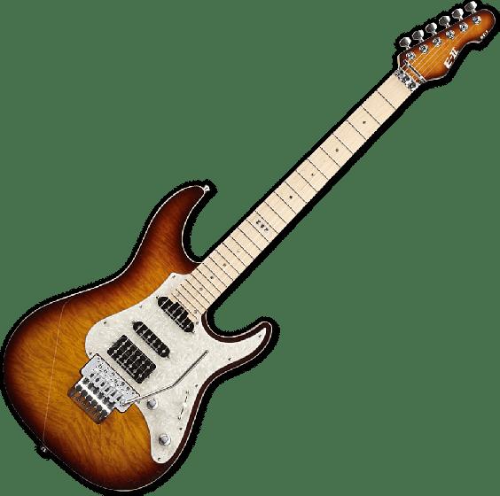 ESP E-II ST-1 QM Electric Guitar in Tea Sunburst EIIST1QMMTEASB