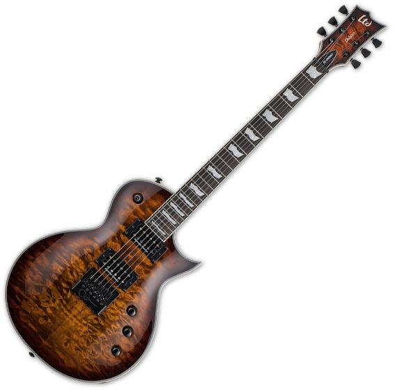 ESP LTD EC-1000 Evertune Electric Guitar Dark Brown Sunburst LEC1000ETQMDBSB