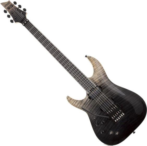Schecter C-1 FR-S SLS Elite Left Hand Electric Guitar in Black Fade Burst sku number SCHECTER1364