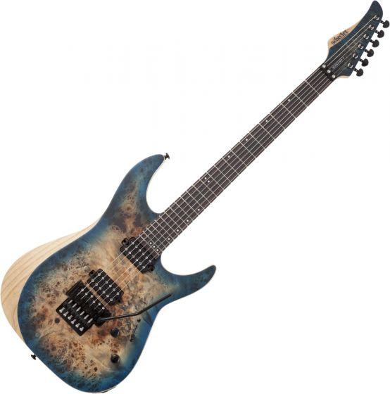 Schecter Reaper-6 FR Electric Guitar in Satin Sky Burst sku number SCHECTER1504
