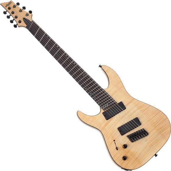 Schecter C-7 Multiscale SLS Elite Left Handed Electric Guitar Gloss Natural SCHECTER1367
