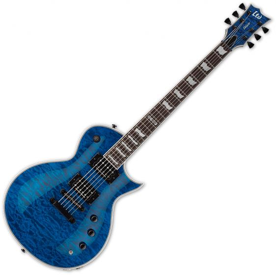 ESP LTD EC-1000 Piezo Quilted Maple Electric Guitar See Thru Blue B-Stock LEC1000PIEZOQMSTB.B