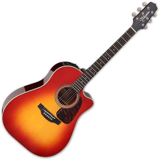 Takamine CP6SSDC Dreadnought Acoustic Guitar Gloss Cherry Sunburst TAKCP6SSDC