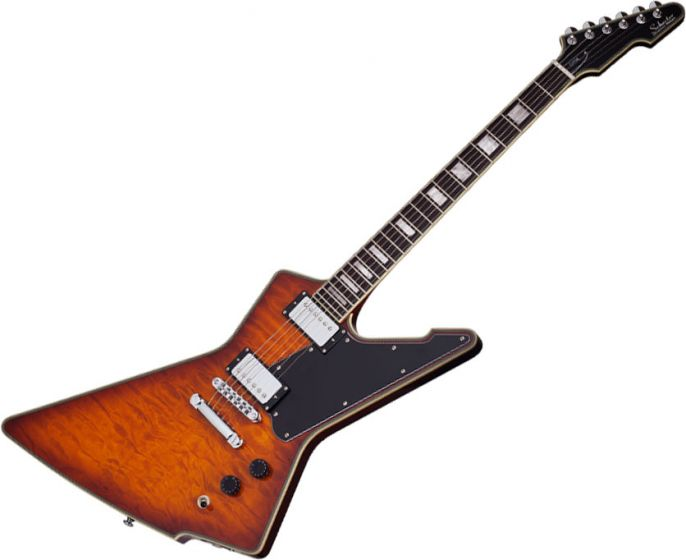 Schecter E-1 Custom Special Edition Electric Guitar in Vintage Sunburst Finish SCHECTER3105
