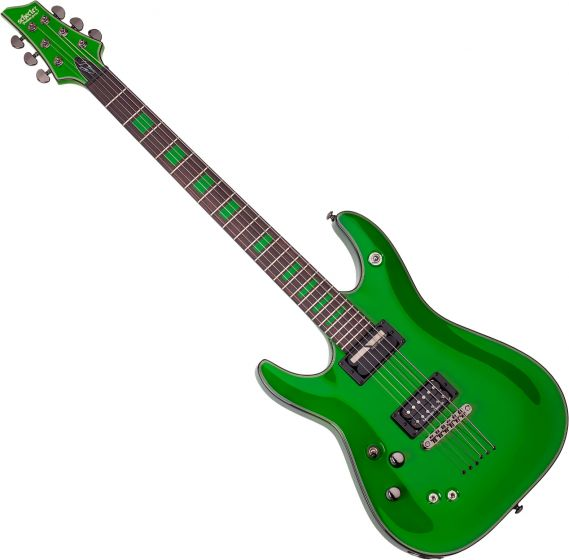 Schecter Signature Kenny Hickey C-1 EX S Left-Handed Electric Guitar in Steele Green Finish SCHECTER229