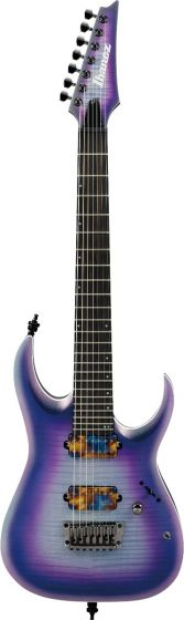 Ibanez RGA71AL IAF RGA Axion Label 7 String Indigo Aurora Burst Flat Electric Guitar sku number RGA71ALIAF