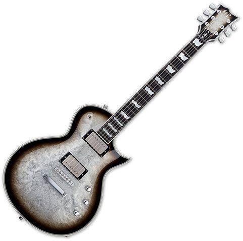 ESP Eclipse Custom Electric Guitar Silver Liquid Metal Burst EECCTMSLMB