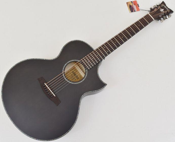 Schecter Orleans Stage-7 String Acoustic Guitar in See Thru Black Satin SCHECTER3709