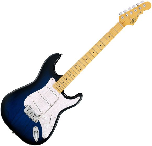 G&L Tribute Legacy Guitar in Blueburst Maple TI-LGY-BLB-MP