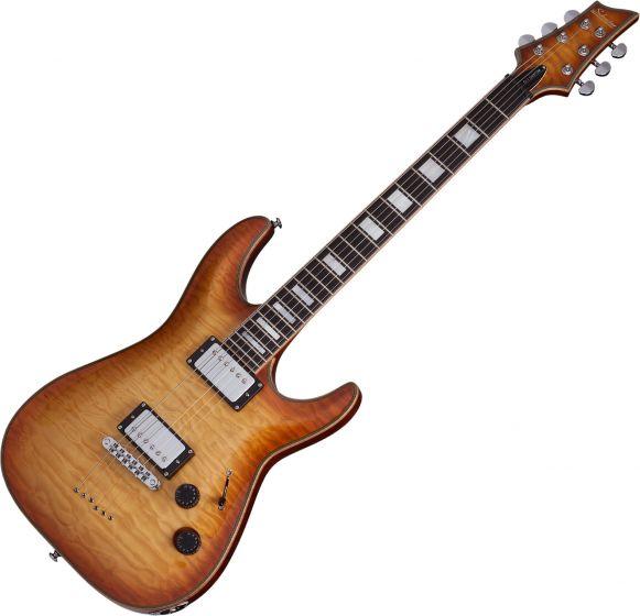 Schecter C-1 Custom Electric Guitar Natural Vintage Burst SCHECTER653