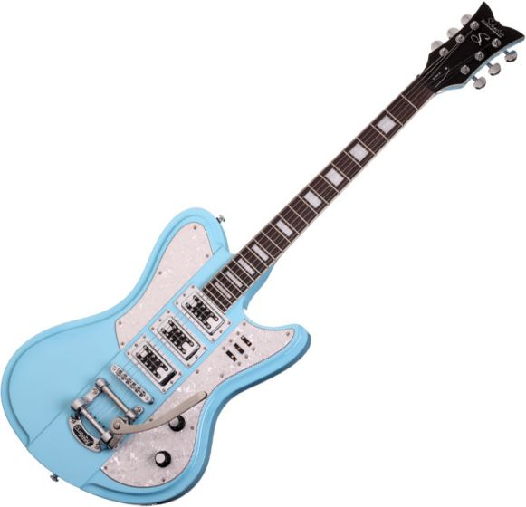 Schecter Ultra-III Electric Guitar in Vintage Blue Finish SCHECTER3155