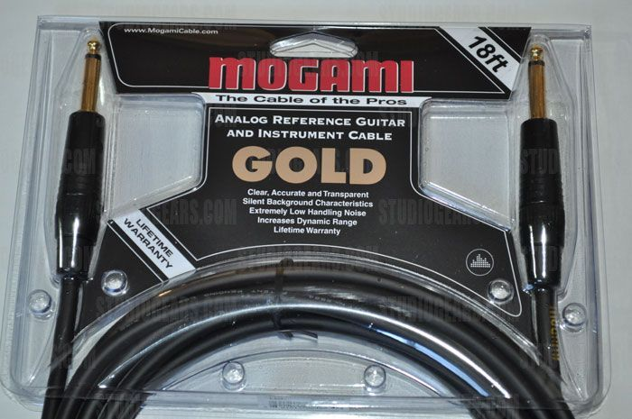 Mogami Gold Instrument Cable 18 ft. GOLD INSTRUMENT-18