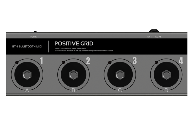 Positive Grid BT-4 Bluetooth MIDI Pedal BT4