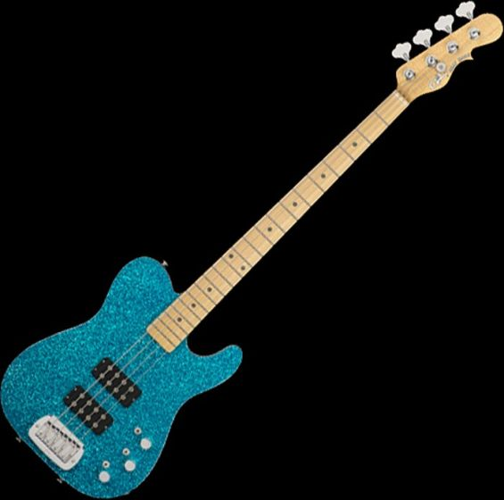 G&L USA ASAT Tom Hamilton Electric Bass in Turquoise Metal Flake 107775
