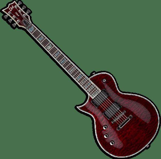 ESP LTD EC-1000 STBC Lefty Guitar in See Thru Black Cherry LEC1000STBCLH