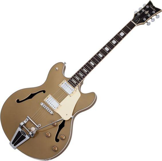 Schecter Corsair Semi-Hollow Electric Guitar Gold Top SCHECTER1554