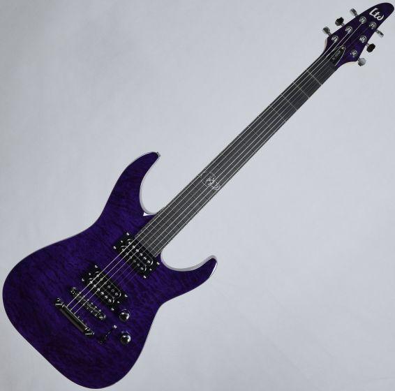 ESP LTD Rob Caggiano RC-600QM Signature Electric Guitar See Thru Purple LRC600QMSTP