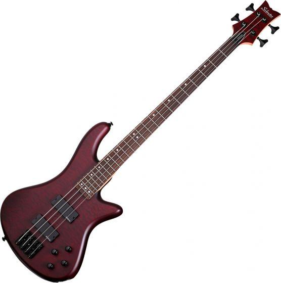 Schecter Stiletto Custom-4 Electric Bass Vampyre Red Satin SCHECTER2537