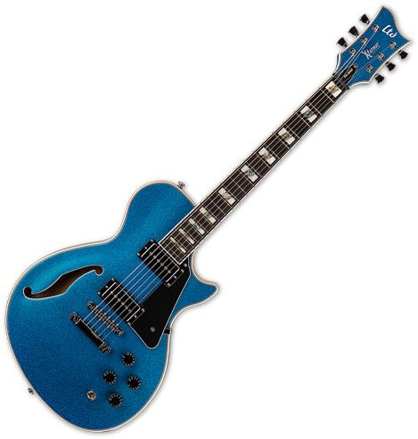 ESP LTD PS-1000 Semi Hollow Electric Guitar Blue Sparkle XPS1000BLUSP
