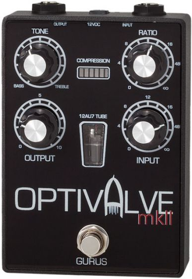 Gurus Optivalve Mk II Tube Driven Optical Compressor Pedal GURUS-OVAMKII