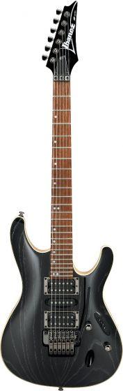 Ibanez S570AH SWK S Standard 6 String Silver Wave Black Electric Guitar sku number S570AHSWK