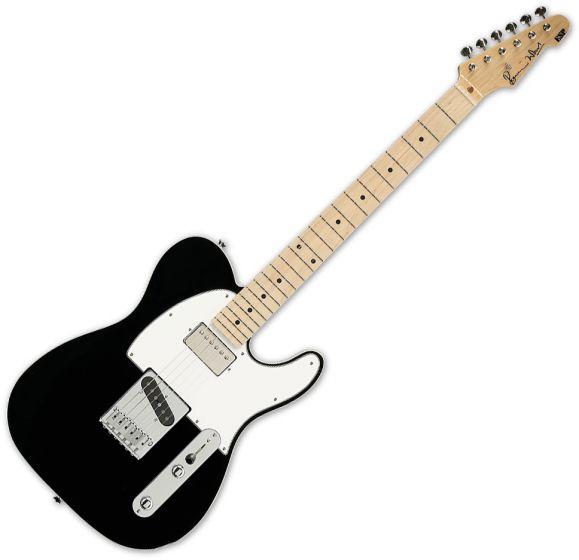 ESP Ron Wood Black Guitar with Case sku number ERONBLK